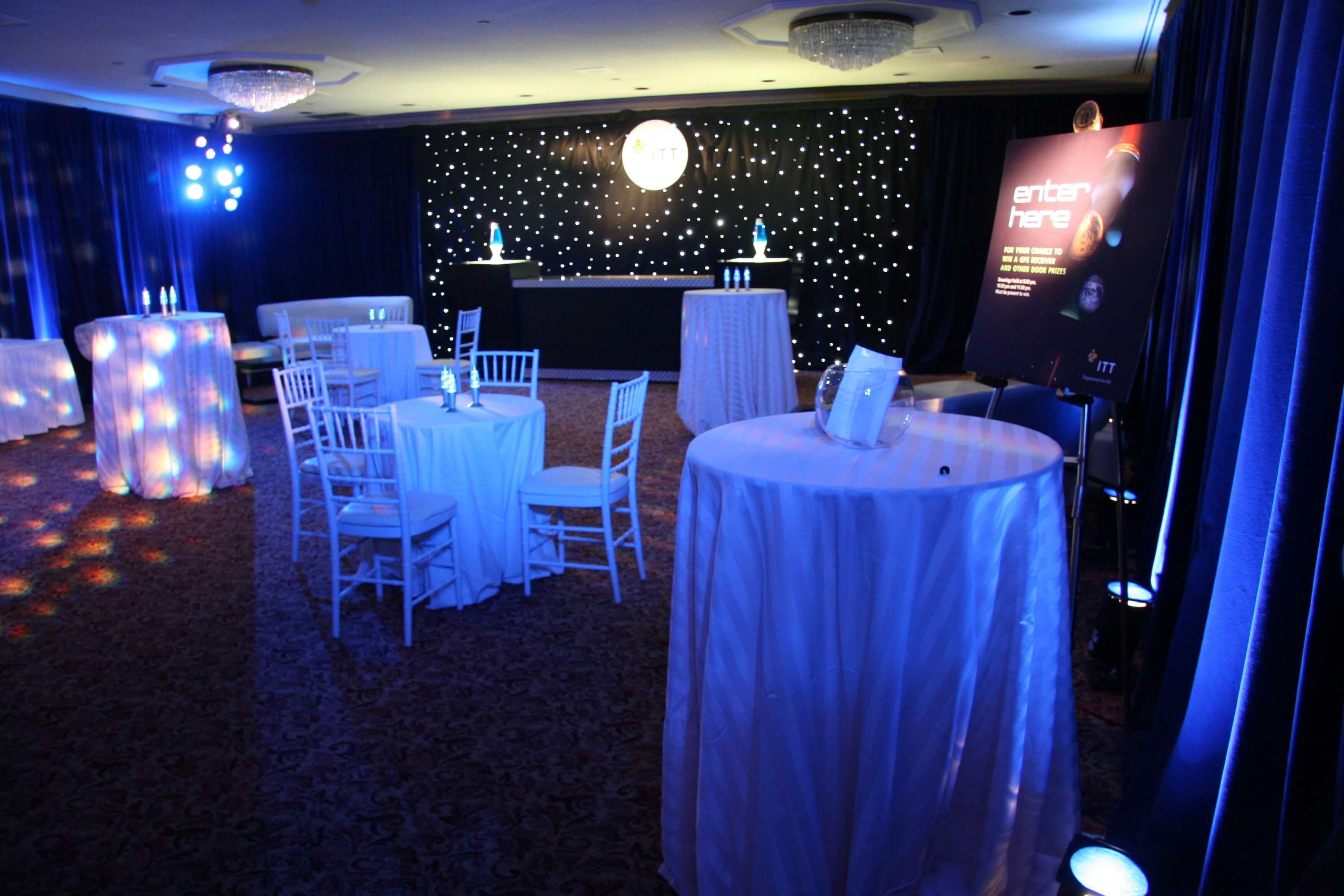Space themed reception for client ITT