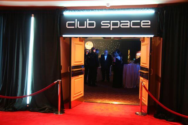 Space themed reception at the Goddard Memorial Dinner