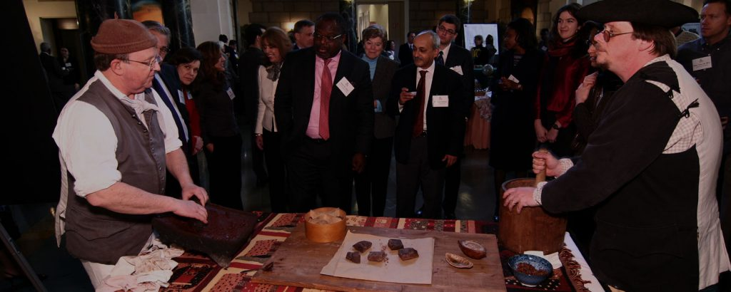 A chocolate tasting station is sure to draw a crowd