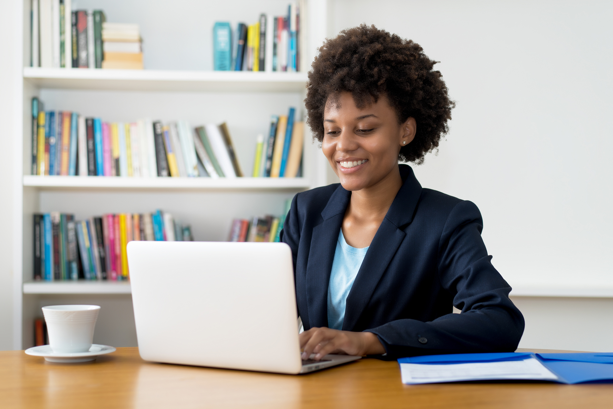 Woman in virtual breakout session